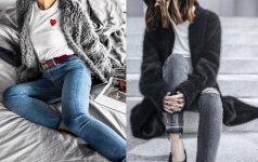 Kokie šilti megztiniai madingi žiemą ir prie ko juos derinti