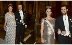Nėščia Švedijos princesė dėvi suknelę su paslaptimi