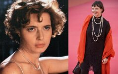 Isabella Rosellini tada ir dabar