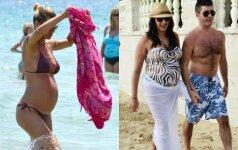 Nėščiųjų stiliaus dvikova: daugiau ar mažiau nuogo kūno? FOTO