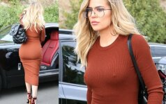 Khloe Kardashian nusimetė liemenelę, bet ne koreguojančius apatinius