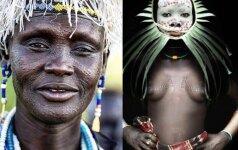 Žiauri Etiopijos grožio kaina: genties nariai pjaustomi dar vaikystėje