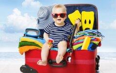 10 daiktų, kurių visada prireikia kelionėse su vaiku