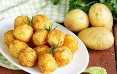 Gardieji bulvių kroketai su varške ir sūriu