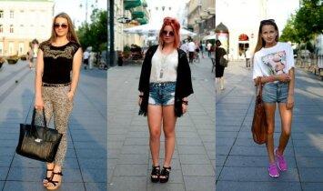 Gatvės mada: stilingi vasaros pabaigos deriniai(FOTO)