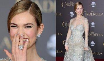 """Princesė: """"Pelenės"""" aktorė suspindo karališka išvaizda(FOTO)"""