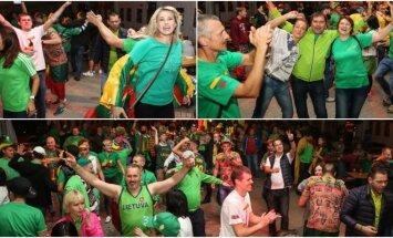 Lietuvos sirgaliai švenčia pergalę