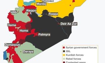 Sirijos žemėlapis, 2017 m. gegužė