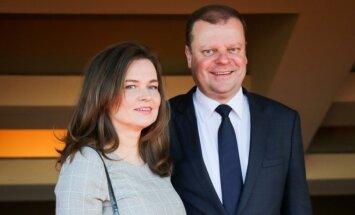 Saulius Skvernelis su žmona