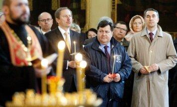Молебен в Пречистенском соборе Вильнюса