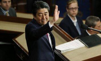 Japonijos premjeras Shinzo Abe JAV Kongrese
