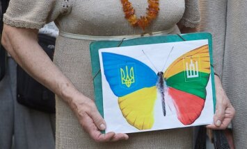 At Ukraine's Independence Day rally in Vilnius