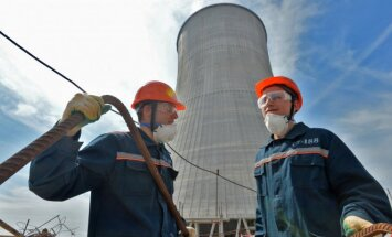 At the Astravyets Nuclear Power Plant building site
