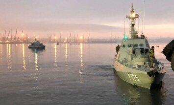 Ukrainos laivai Kerčės uoste