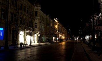 Neapšviestas Vilniaus Gedimino prospektas