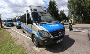Lazdijų pasienio poste Lenkų policijos antiriaušinis padalinys