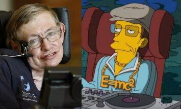 Stephenas Hawkingas ir jo personažas seriale Simpsonai