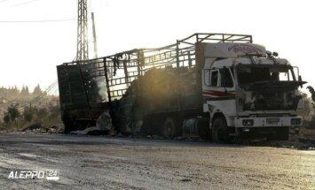 Bombarduota pagalbos vilkstinė Sirijoje