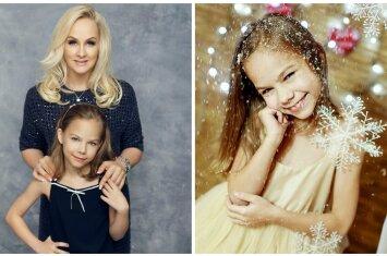 Aštuonmetė Dianos Dargienės dukra Unė pristato pirmą savo solinę dainą