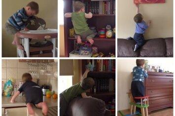 """<span style=""""color: #ff0000;"""">NEREALIAI:</span> Eglė nufilmavo sūnų, turintį kaskadininko talentą <sup style=""""color: #ff0000;"""">(VIDEO)</sup>"""