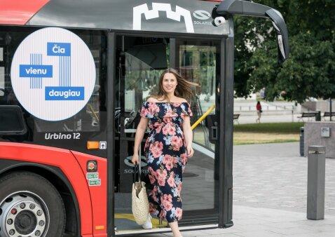 Nėščiosios viešuoju transportu Vilniuje keliaus saugiau