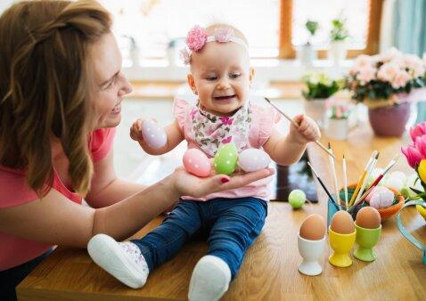 Netradiciniai kiaušinių marginimo būdai ir smagūs darbeliai su vaikais Velykoms