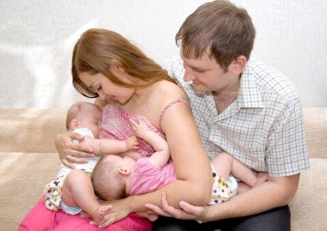 Kaip elgtis vyrui, kurio žmona žindo vaiką