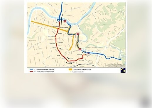 Trasa autobusu nr 10 na Kaziuka 2013