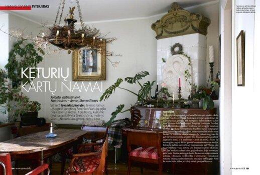 """Apie būstą, kuriame gyvena jau ketvirta šeimos karta, Ieva Matulionytė sako: """"Nenorėčiau gyventi niekur kitur."""""""