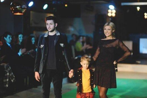 Eglė Jackaitė su sūnumi