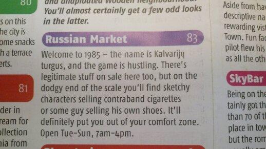 Kalvarijų turgus angliškame gide tapo rusiška turgaviete