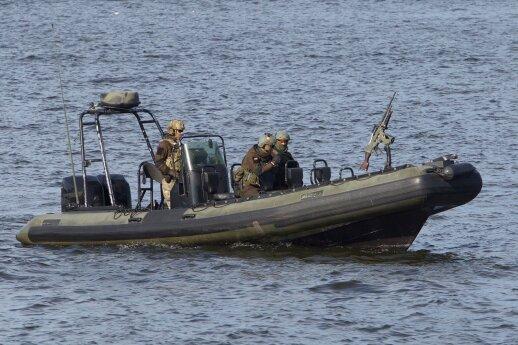 Lietuvos Specialiųjų operacijų pajėgos saugo JAV laivą