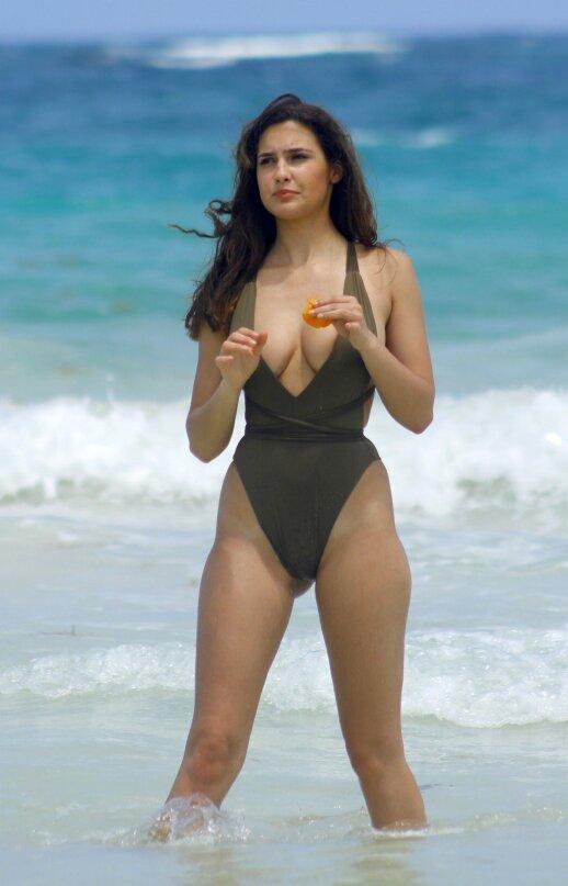 Per ankštas maudymosi kostiumėlis