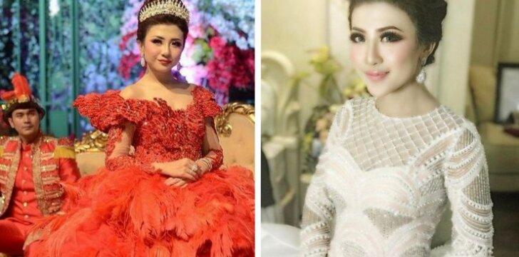 Princesė iš Džakartos: vestuvinė suknelė, verta tikros karalienės