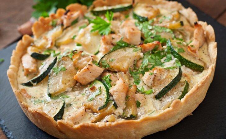 Idėja pietums ar vakarienei: vištienos pyragas