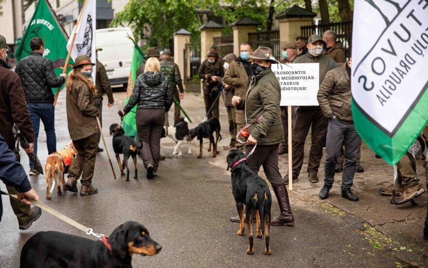 Около министерства в Вильнюсе состоялся пикет охотников