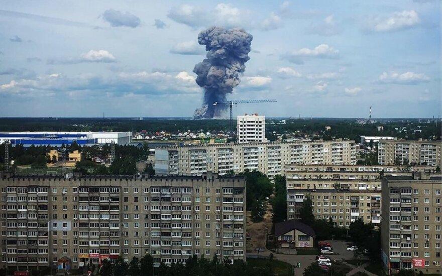 Nukentėjusių per sprogimus Rusijos sprogmenų gamykloje padaugėjo iki 116