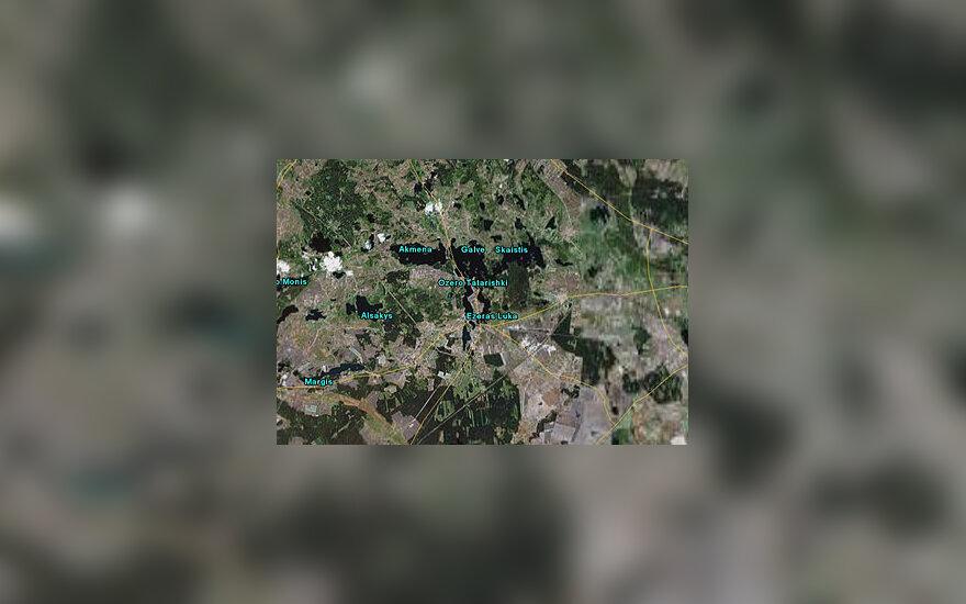 Google Earth  matomas Lietuvos vaizdas