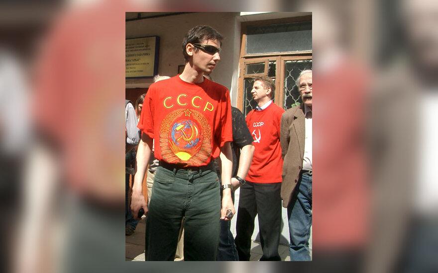 Protestas prie Lietuvos ambasados Maskvoje dėl sovietinės simbolikos uždraudimo