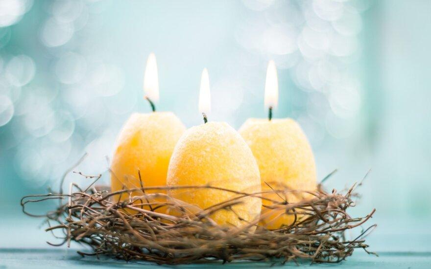 Velykinės rankų darbo žvakės