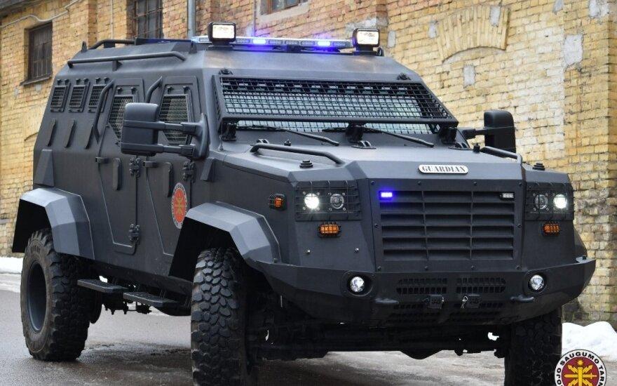 Служба общественной безопасности Литвы получила новый бронеавтомобиль за 250 000 евро