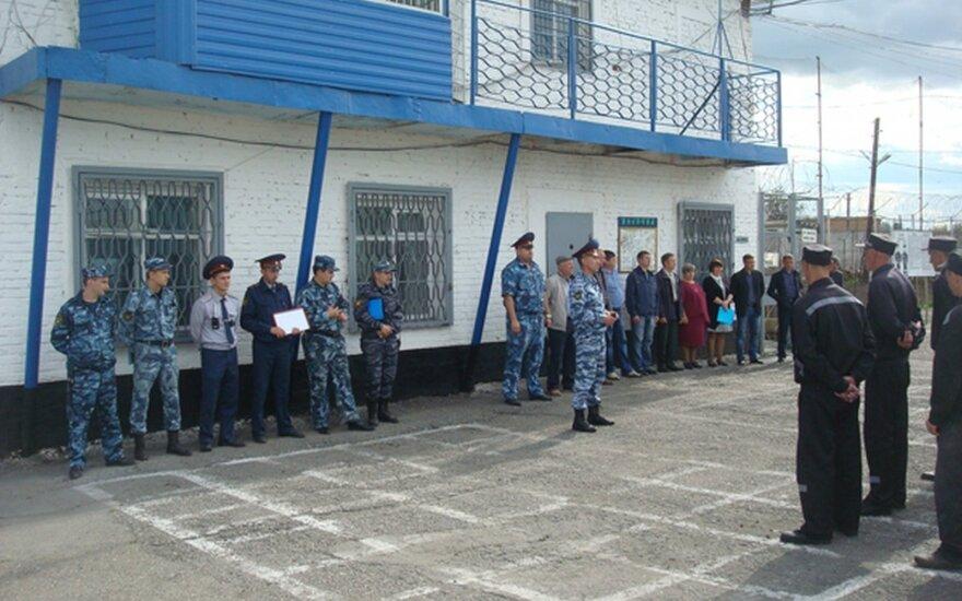 Осужденные в кемеровской ИК-37