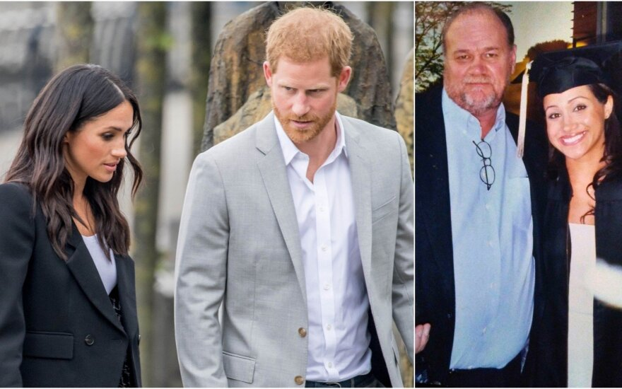 Meghan Markle, princas Harry, Thomas Markle'as