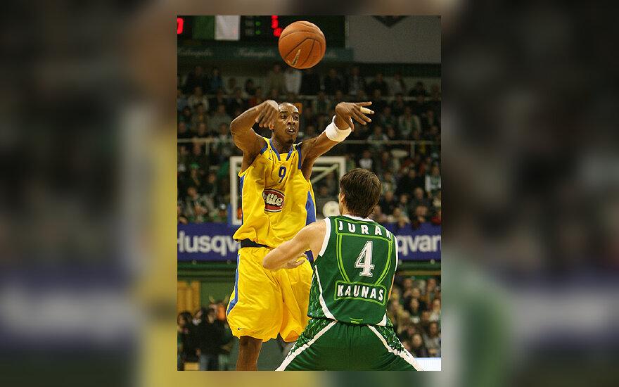 """Terrence'as Morrisas (""""Maccabi"""") prieš Goraną Juraką (""""Žalgiris"""")"""