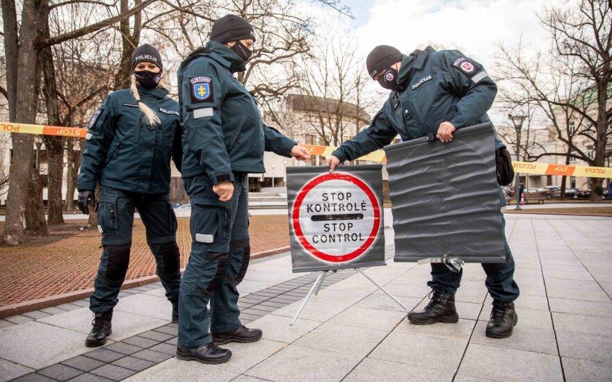 В Вильнюсе протестуют полицейские, правительство обещает корректировать порядок