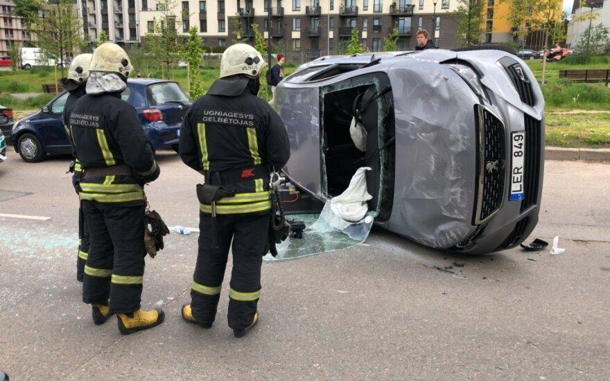 Нетрезвая водитель на машине CityBee совершила ДТП в Вильнюсе