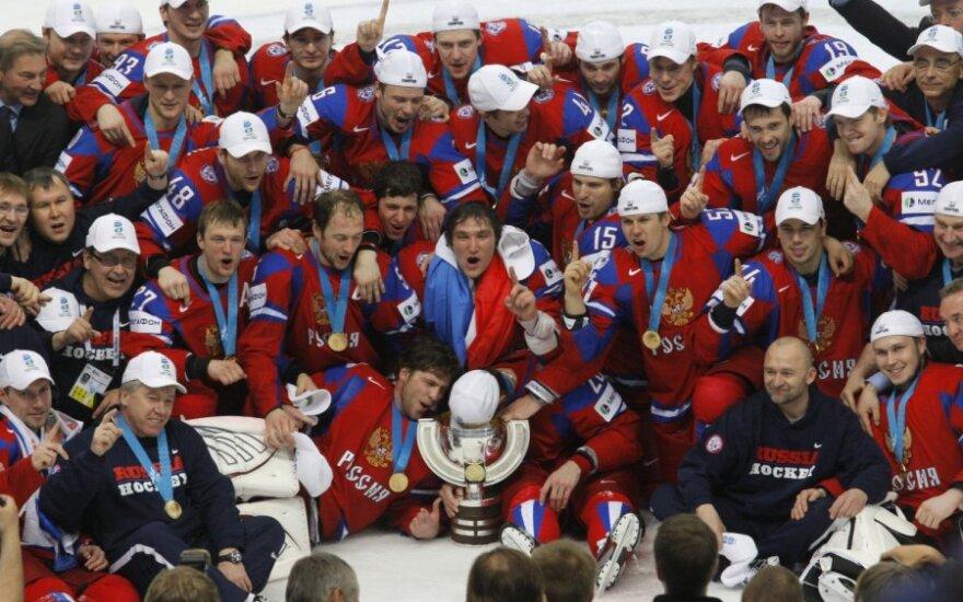 Rusijos ledo ritulininkai užtikrintai triumfavo pasaulio čempionate