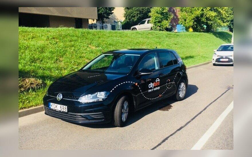 """В Вильнюсе """"отличился"""" еще один водитель на CityBee"""