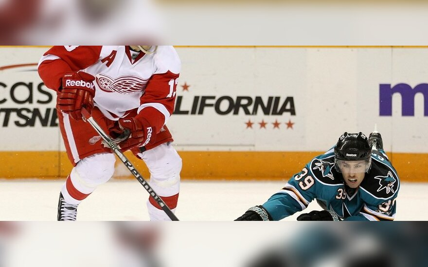 "Pavelas Daciukas (""Red Wings"") ir Loganas Couture'as (""Sharks"")"