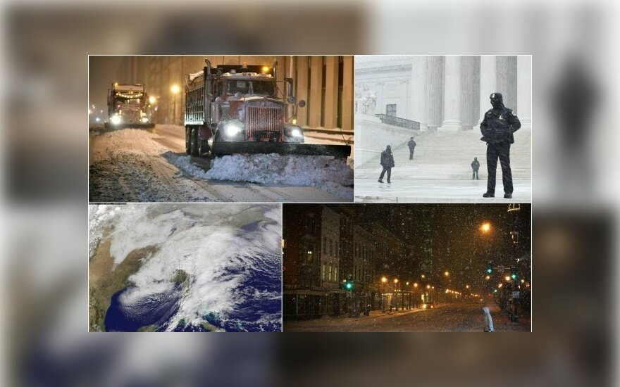 Rytinė JAV dalis – sniego gniaužtuose